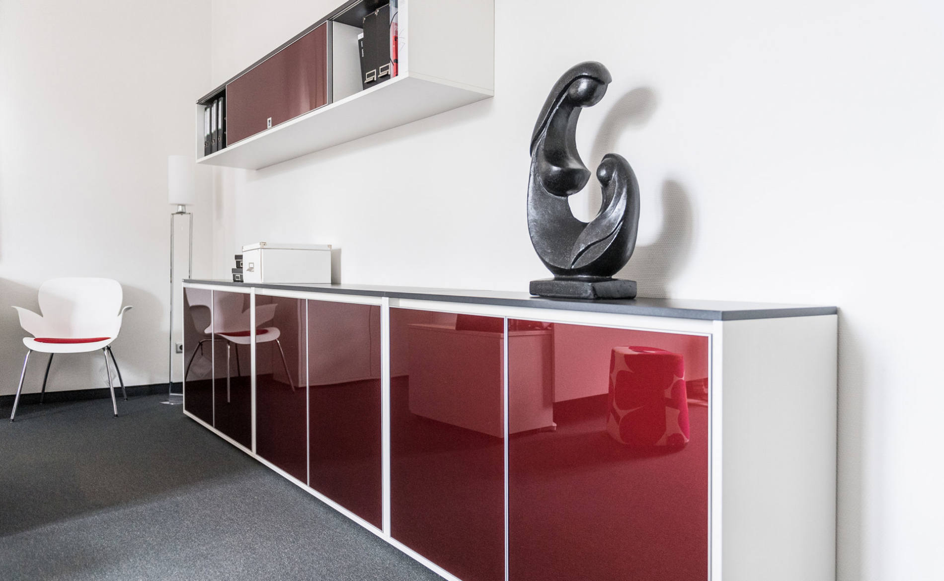 Sideboard SELECT mit Glasdrehtüren (Palmberg)