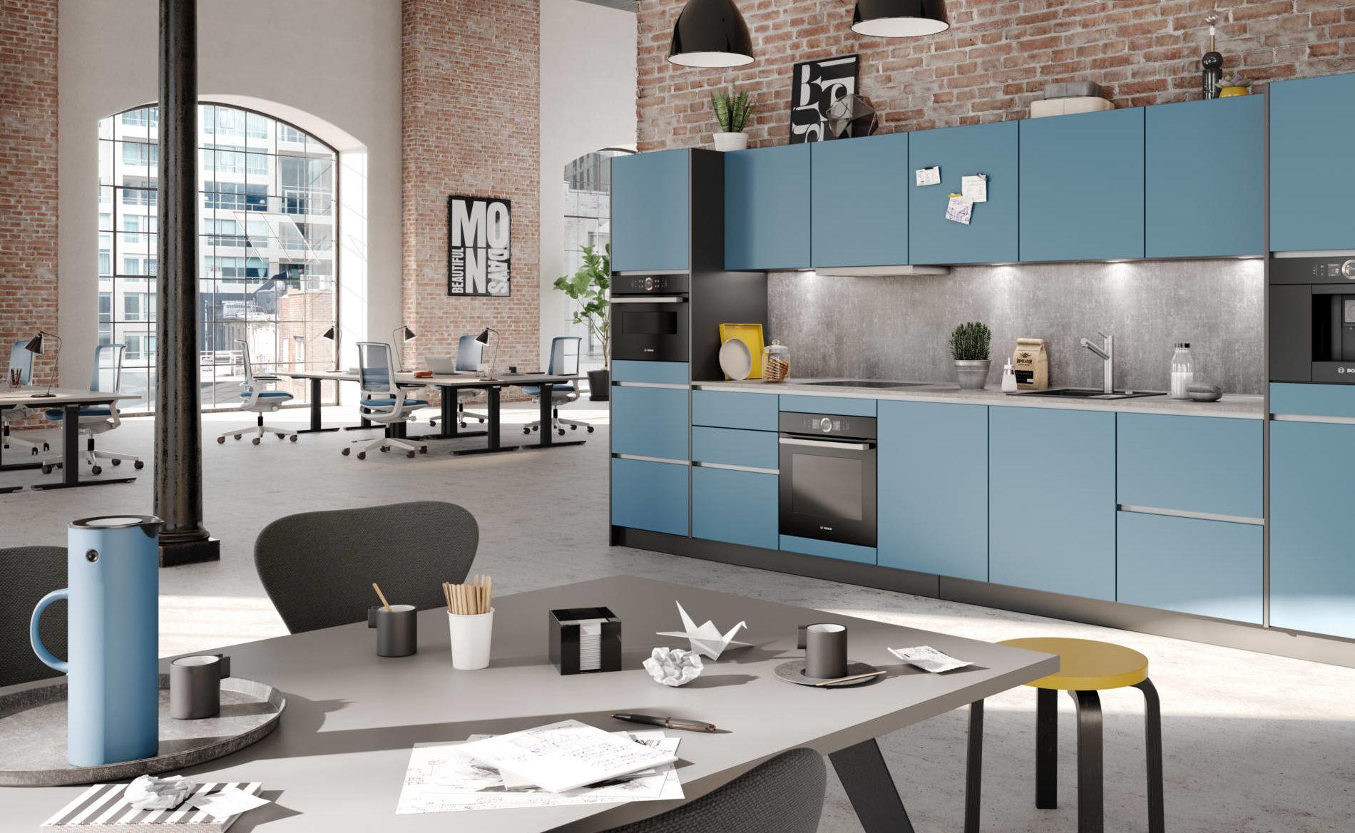 Büroküche CUCINA mit Backofen, Mikrowelle und Kaffeeautomat (Palmberg)